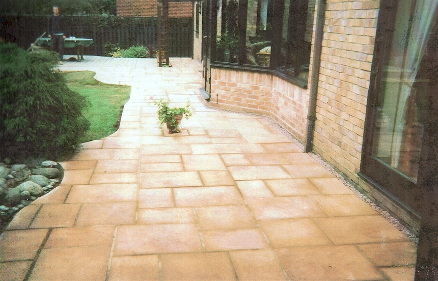 Pic 30. Flag Paved Patio